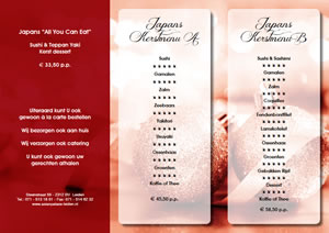 AsianPalace Leiden Kerstmenu 2016 japans all you can ea 300x212t